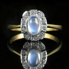 MOONSTONE PASTE RING SILVER GOLD