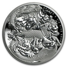 2016 Tuvalu 5 oz Silver Dragon and His Nine Sons High Relief Prf - SKU #104449