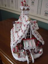 "KURT ADLER-12""H- LIGHTED GINGERBREAD HOUSE WITH CORD-NEW IN BOX"