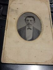 american ? tintype early 1870s photograph cdv size  60 x 100 mm  portrait