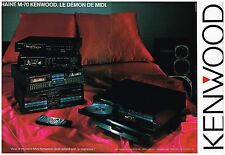 Publicité Advertising 1987 (2 pages) La Chaine Hi-Fi M-70 Kenwood