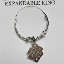 Alex and Ani Endless Knot Ring Sterling Silver Providence Metal Collection