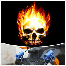 New Motorcycle Skull Warning Alarm Guide Signals Indicators Projector Light Lamp
