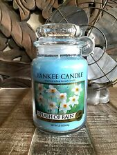 YANKEE CANDLE - Two Large 22oz Jar - SPLASH OF RAIN