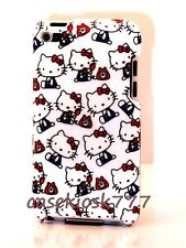 for iPod touch 4th 4 th 4g itouch hard back hello kitty case telephone red white
