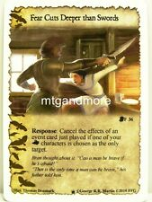 A Game of Thrones LCG - 1x Fear Cuts Deeper than Swords #036 Westeros Draft Pack