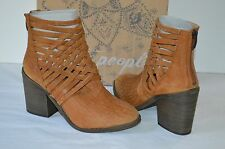 New $198 Free People Carrera Heel Bootie/Boots/Ankle/Short Vintage Tan Leather 7