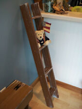 4 Ft. Wooden Display Ladder Painted An Aged Rustic Brown USA Made