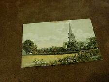 Early Bellerby postcard - Brayton church - Selby - North Yorkshire