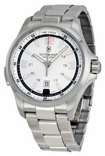BLEMISH Victorinox Swiss Army 241571 Night Vision Silver Men's Watch warranty