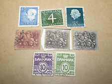 Lot Of 8 Mixed Stamps - Nederland / Portugal / Sweden - Used