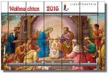 Weihnachten 2016, Panorama-Kleinbogen Liechtenstein, 932980