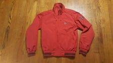 Helly Hansen Red Full Zip Polyamide Jacket MEDIUM Spell Out Norwegian Flag