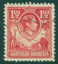 [JSC] 1936-1952 British Colony NORTHERN RHODESIA KGVI GIRAFFES ELEPHANTS