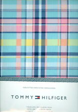"""Tommy Hilfiger Plaid 100%Cotton Tablecloth 60"""" x 102"""" Rectangle Blue Pink Yellow"""
