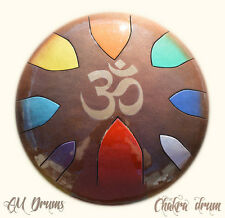 AM Drum - custom made CHAKRA DRUM - hank tank drum - steel tongue drum handpan