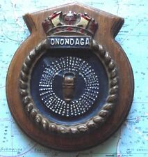 Metal HMCS Onondaga Submarine Ship Crest Shield Plaque