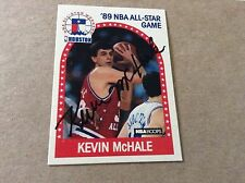 Kevin McHale HOF VINTAGE Signed 25 Yrs Ago 89 Hoops All Star PERS OBTAINED w/COA