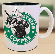 Cloud Strife Final Fantasy Starbucks Anime Manga Japanese Insipred  Nerd Mug