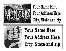 120 THE MUNSTERS RETURN ADDRESS LABELS MANY CHOICES