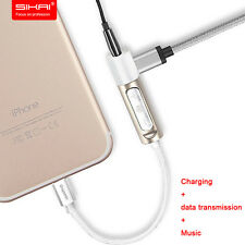 2IN1 earphone Jack Charging Cable Adapter Lightning Connector for iphone 7 7plus