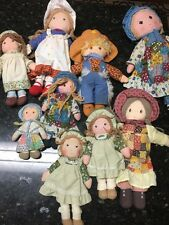 Vintage Lot Of 9 HOLLY HOBBIE Dolls  American Greetings And Friends