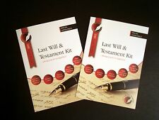 LAST WILL AND TESTAMENT KIT,  Latest DELUXE X 2 EDITION, FREE LEGAL HELPLINE
