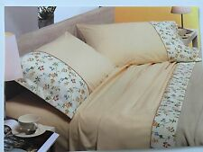 Luxury Shabby Chic Country Floral Italian 100% Cot. Super King Sz Bed Set Linen