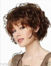 100% Real Hair! Wigs Fashion Sexy Women Short Curly Wavy Brown Human Hair Wig