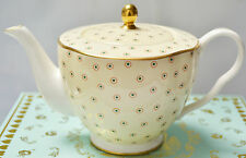 Wedgwood Polka Dot Harlequin Tea Story Teapot Tea Pot Yellow New In Box BNIB