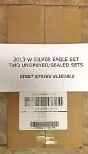 2013-W Silver American Eagle Set 2 Unopened Sealed Sets First Strike Eligible