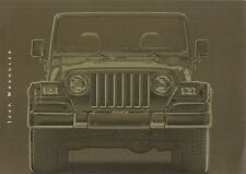Jeep Wrangler 2001-02 UK Market Sales Brochure 4.0 Sport Sahara