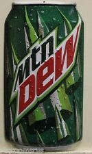 MOUNTAIN DEW heavy embossed metal sign die cut can mtn dew new logo 2170181
