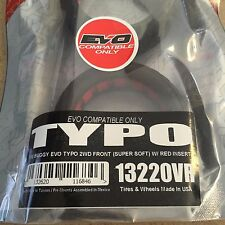"AKA ""TYPO"" 1/10 Buggy EVO 2WD Front Tires (2)(Super Soft) w/ Red Insert) New!!!"