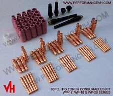 83PCS! USA TIG Collet Back Cap Cup Kit 17 18 26 Series Welding Torch Consumables
