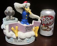 RARE Disney LE Baby Dumbo and Stork on Cloud Ceramic Porcelain Music Box Figure