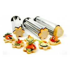NORPRO Bread Canape Tube Mold Set of 3 Heart/Star/Flower  NP3656 N