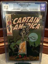 CAPTAIN AMERICA #113 CGC 7.5 VF- CLASSIC JIM STERANKO COVER (ID 3491)