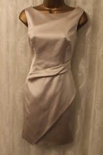Karen Millen Signature Fold Draped Satin Pencil Cocktail Dress 10 38 £185
