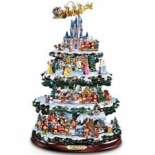 DISNEY LIGHTED & MUSICAL CHRISTMAS TREE TABLETOP SCULPTURE HOLIDAY DECOR NEW