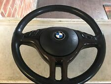 BMW E46 E39 E53  MULTI-FUNCTION LEATHER WOOD EFFECT STEERING WHEEL WITH AIRBAG