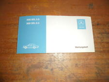 Prospekt Sales Brochure Mercedes Wartungsheft 300 SEL 3.5 6.3 Car автомобиль