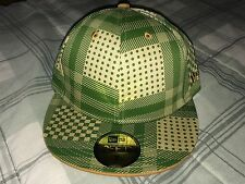 REASON NYC PLAID NEW ERA FITTED SZ 7 HAT OLIVE GREEN 10 deep supreme palace