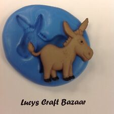 Silicone Mould Spring Farmyard Donkey Cake Decorating Flowerpaste CupCake Topper