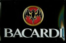 BACARDI LANDSCAPE Vintage Metal Pub Sign | 3D Embossed Steel | Home Bar