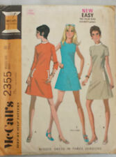 Vintage 1970's Sewing Pattern McCall's 2355 A-Line Mod Dress Complete B 32""