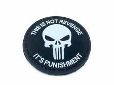 This Is Not Revenge Punisher Black PVC Airsoft Paintball Patch
