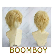 Fashion Blonde Short Straight Anime party Cosplay Full Wig DH13