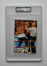 MIKE TYSON AUTHENTIC SIGNED 4x6 PHOTO BITING EVANDER HOLYFIELD'S EAR PSA ENCASED