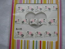 FRENCH NAIL ART TIPS -  10-  NAIL ART STICKERS  / NORMAL/ ACRYLIC/ GEL